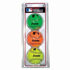Franklin Mlb Neon Rubber 3 Pack Softball
