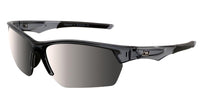 Dirty Dog Sport Track Crystal Black|Silver Mirror Polarised Sunglasses