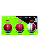 Kookaburra Super Coach 3 Cricket Balls Pack
