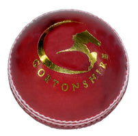 Gortonshire Practice Cricket Ball Red (Alum Tanned) Cricket Ball