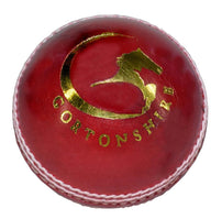 Gortonshire Match Cricket Ball Red (Alum Tanned) Cricket Ball