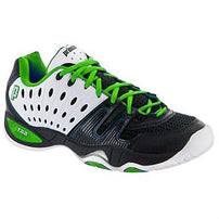 Prince Mens T22 Black/White/Green Tennis Shoe