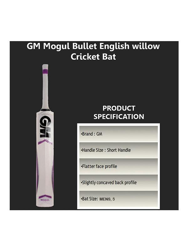GM Mogul Bullet English Willow Cricket Bat - NZ Sports