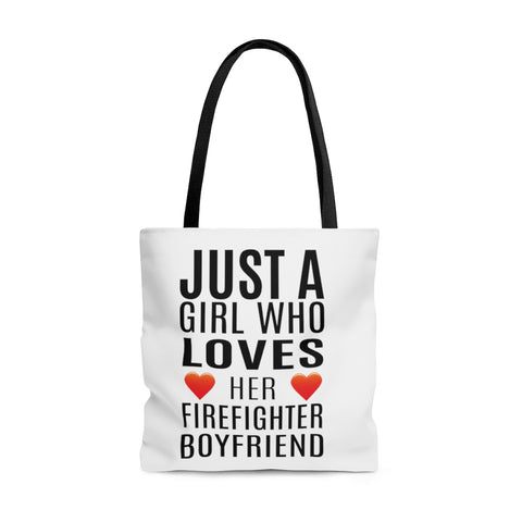 Tote Bag - Girl Who Loves her Firefighter Boyfriend - The VIP Emporium