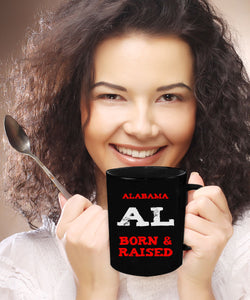 Alabama Gift Mug - Born and Raised