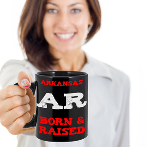 Arkansas Born and Raised Gift Mug