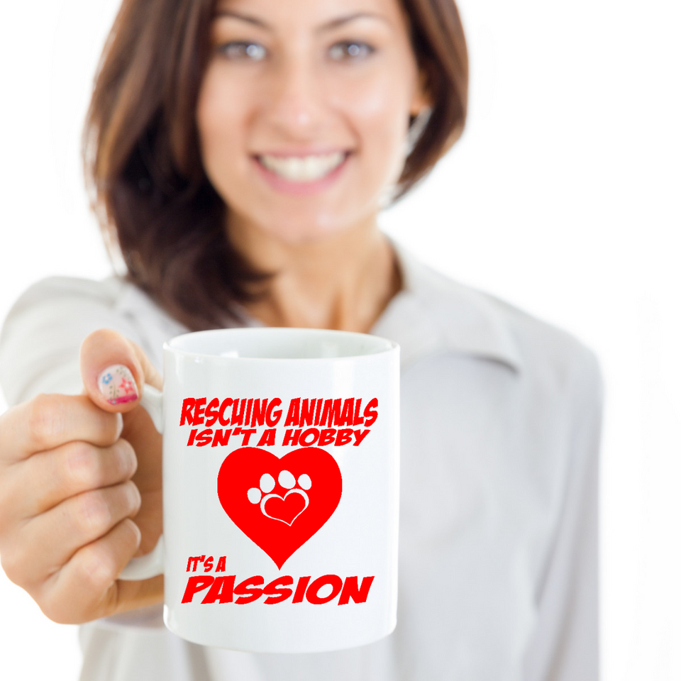 A Passion for Rescuing Animals - Animal Rescue Mug