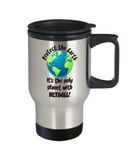 Netball Gift Travel Mug - Protect the Earth