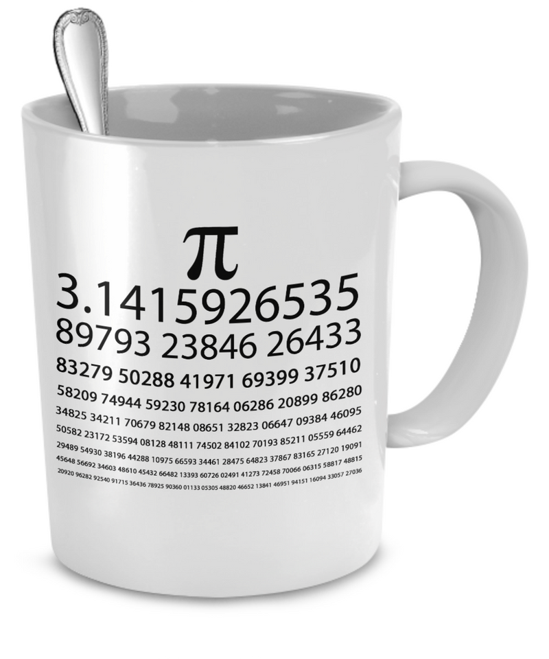 Pi Chart White Mug - The VIP Emporium