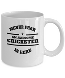 Awesome Cricketer Gift Mug - Never Fear - The VIP Emporium
