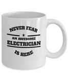 Awesome Electrician Gift Coffee Mug - Never Fear - The VIP Emporium