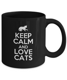 Keep Calm and Love Cats - Cat Lover Gift - The VIP Emporium