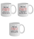 Funny Gift Mugs for Families with Three Children - Rules - Set of Three Ceramic 11oz Mugs - The VIP Emporium