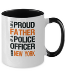 Father of New York Police Officer - Ceramic Two-Tone Mug - The VIP Emporium