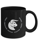 Taurus Black Coffee Mug - Gift for Taurean - Birthday - Christmas - Horoscope - Zodiac symbol - Astrology - The VIP Emporium