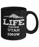 Utah Ski Gift Mug - Life is Better on Utah Snow - The VIP Emporium