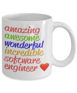 Amazing Awesome Software Engineer Gift Mug