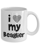 I love my Beaglier - Gift for Beaglier Mom or Dad - 11oz Mug, Printed in USA - The VIP Emporium