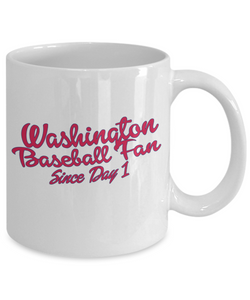 Washington Baseball Fan Mug