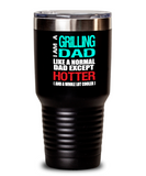Grilling Dad Insulated Tumbler - 20oz or 30oz - Hot and Cold Drinks - Funny Gift
