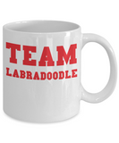 Team Labradoodle Gift Mug for Labradoodle Dad or Mom - 11oz Quality Ceramic, Printed in USA