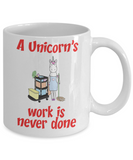 Fun Unicorn Cleaning Mug - Gift for Mom, Maid or Cleaner