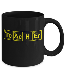 Fun teacher gift mug - Chemical Symbols