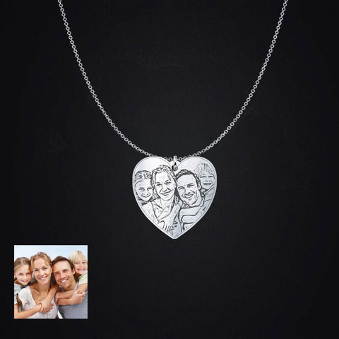 Love Family Photo Pendant - Unique Christmas or Thanksgiving Gift