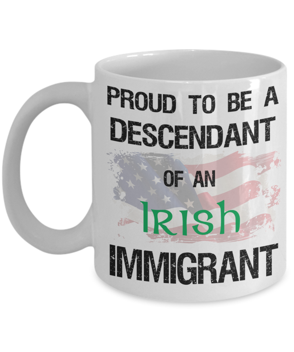 Irish American Pride Mug - Proud Descendant
