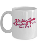 Washington Baseball Fan Mug - The VIP Emporium