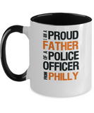 Father of Philly Police Officer - Ceramic Two-Tone Mug - The VIP Emporium