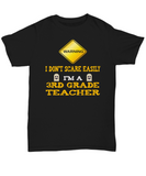 Third Grade Teacher Halloween Shirt - I Don't Scare Easily