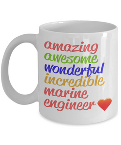 Amazing Awesome Marine Engineer Gift Mug - The VIP Emporium
