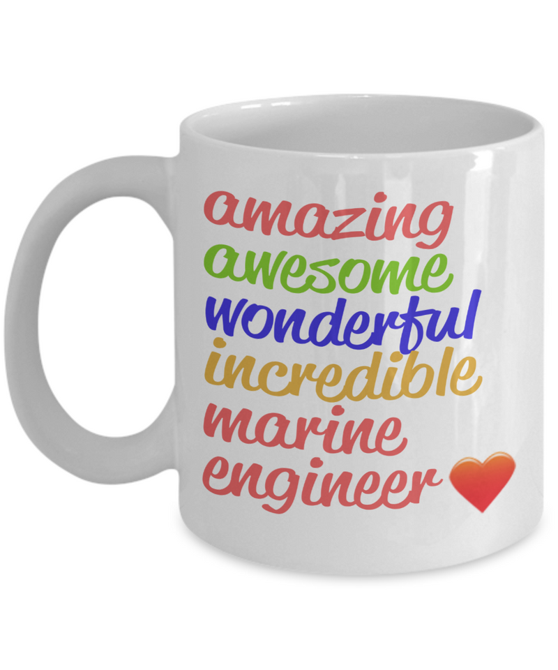 Amazing Awesome Marine Engineer Gift Mug