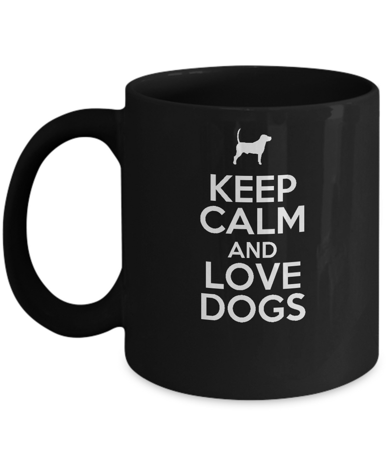 Keep Calm and Love Dogs - Dog Lover Mug