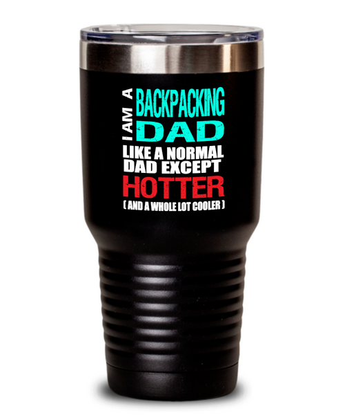 Backpacking Dad Insulated Tumbler - 20oz or 30oz - Hot and Cold Drinks - Funny Gift - The VIP Emporium