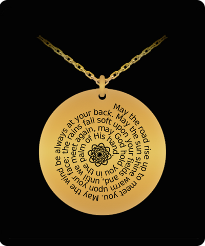 An Irish Blessing laser-engraved pendant