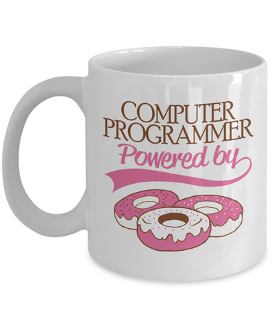 Programmer Powered by Donuts Mug - The VIP Emporium