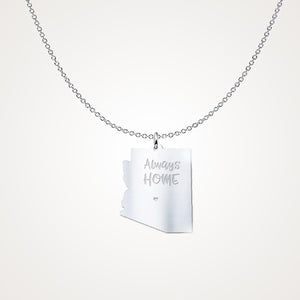 Arizona - Always Home - Unique Solid Sterling Silver Necklace