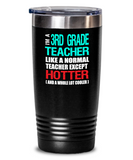 Third Grade Teacher Appreciation Gift Tumbler - Vacuum Insulated Stainless Steel
