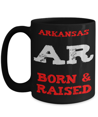 Arkansas Born and Raised Gift Mug - The VIP Emporium