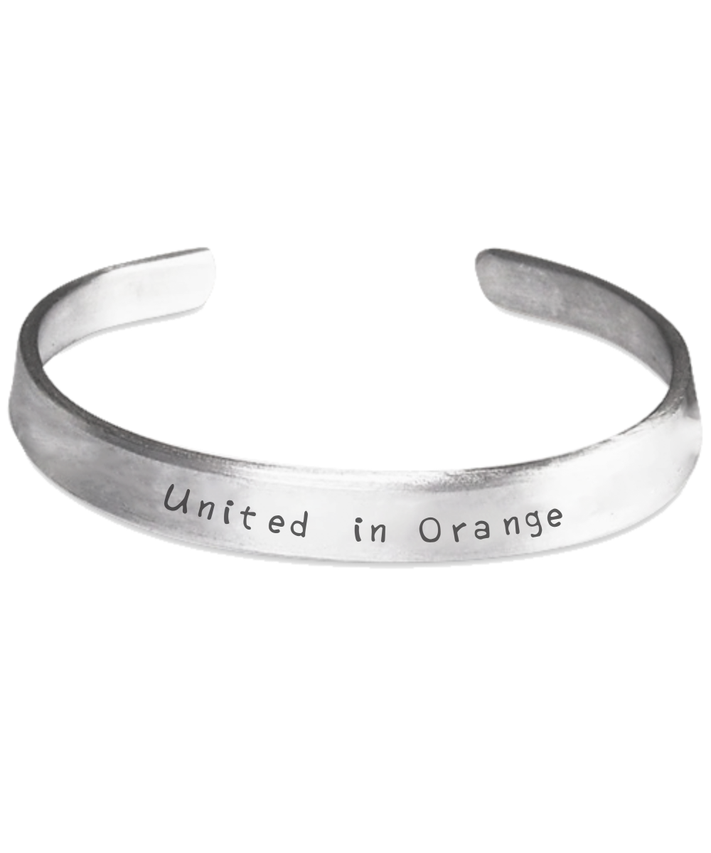 United in Orange Handstamped Bracelet