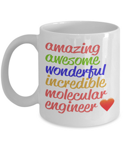 Amazing Awesome Molecular Engineer Gift Mug - The VIP Emporium