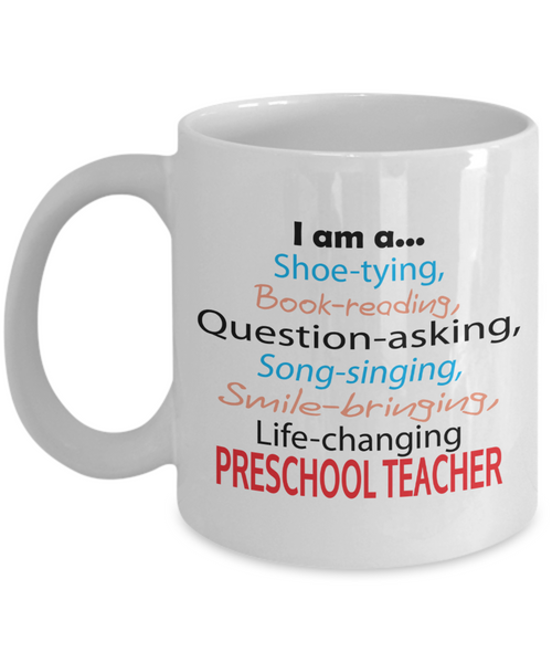 Life-changing Preschool Teacher - Appreciation Gift - 11oz Ceramic Mug - The VIP Emporium