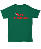 Bah Humbug funny Christmas shirt for Scrooge - The VIP Emporium