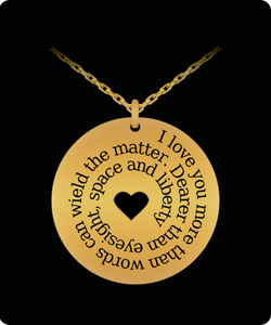 Romantic Gift Pendant - I Love You More Than Words