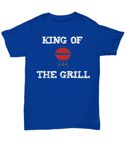 Fun Barbecue Shirt for Dad - King of the Grill