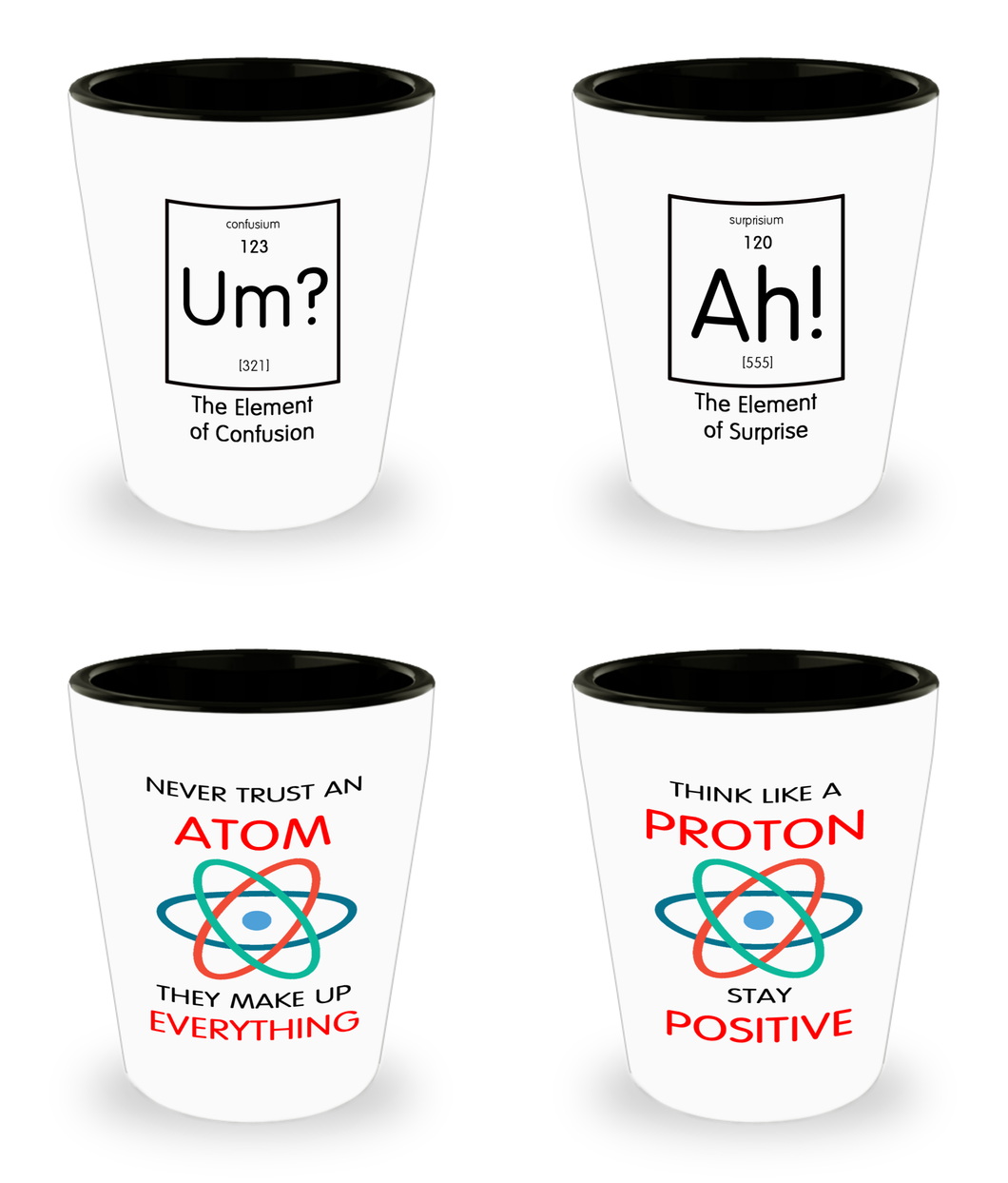 Geek Gift Funny Shot Glasses - Nerdy and Geeky Humor