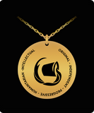 Aquarius Gold-Plated Pendant - Astrology Gift for Aquarian