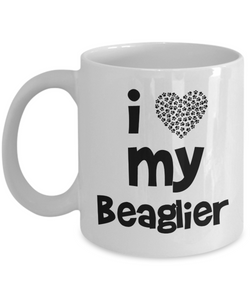 I love my Beaglier - Gift for Beaglier Mom or Dad - 11oz Mug, Printed in USA